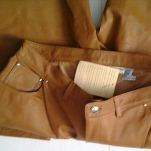 Leather Jeans Gold size 20W